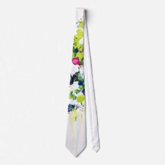 Lazo verde de la impresión floral del verano corbatas personalizadas