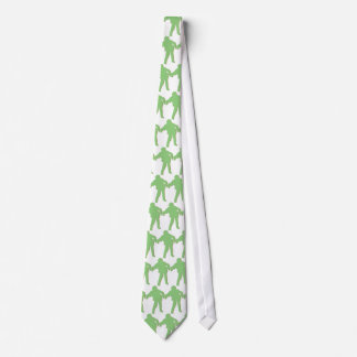 Lazo verde de la silueta del zombi corbatas personalizadas