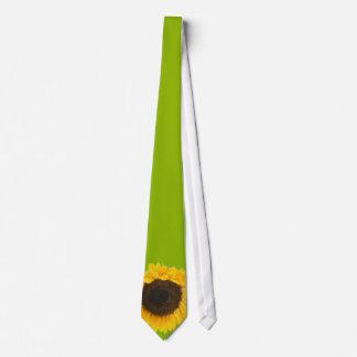 Lazo verde del boda del girasol corbatas personalizadas