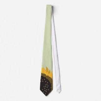 Lazo verde del boda del girasol de Lite rayado Corbata