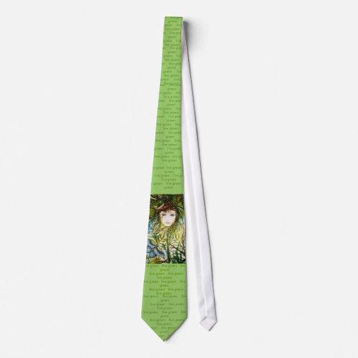 Lazo verde vivo corbata personalizada