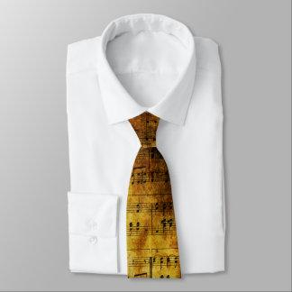 Lazo viejo de la hoja de música corbatas personalizadas
