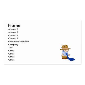 Lazo y gorra grandes del niño pequeño tarjetas de visita