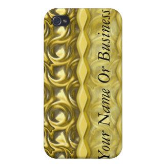 Lazos brillantes del oro iPhone 4 cárcasa