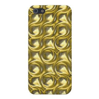 Lazos brillantes del oro iPhone 5 funda