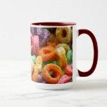 Lazos coloreados de la fruta taza