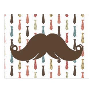 Lazos de moda con el bigote Stache del bigote Postales