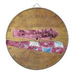 Lazos de seda del vintage tabla dardos