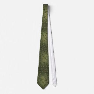 Lazos del modelo del círculo del verde verde oliva corbata