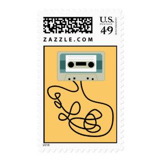 Lazos flojos de la cinta de casete sellos