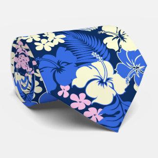 Lazos hawaianos del hibisco de la bahía de Kona Corbata Personalizada