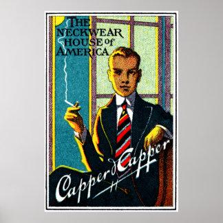 Lazos para hombre 1920 del vintage poster