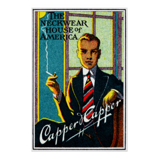 Lazos para hombre 1920 del vintage póster