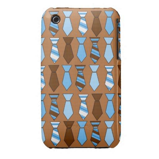 Lazos para los individuos - Brown Case-Mate iPhone 3 Coberturas