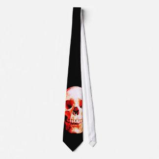 Lazos rojos del cráneo corbatas personalizadas