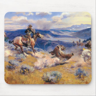Lazos y Horses rápido (1916) de Charles M. Russell Mouse Pads