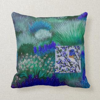 Lazuli Blue Meadow Pillow