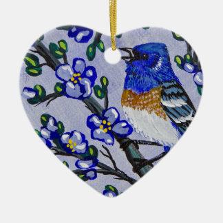 Lazuli Bunting Ceramic Ornament