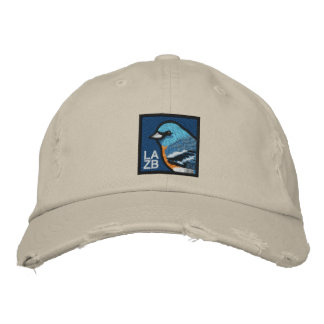 Lazuli Bunting Embroidered Hat