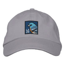Lazuli Bunting (non-distressed) Embroidered Baseball Cap