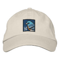 Lazuli Bunting (non-distressed) Embroidered Baseball Hat