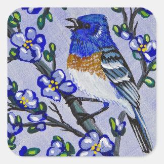 Lazuli Bunting Square Sticker