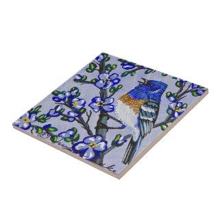 Lazuli Bunting Tile