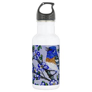 Lazuli Bunting Water Bottle
