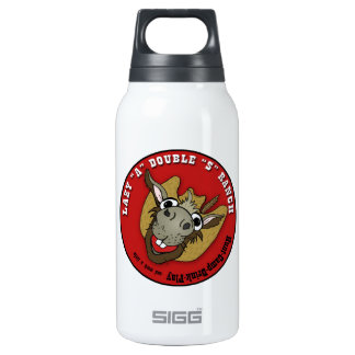 """LAZY """"A"""" DOUBLE """"S"""" RANCH THERMOS WATER BOTTLE"""