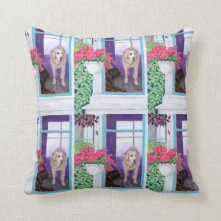 Lazy Afternoon Labradors Painting Pillow