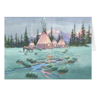 LAZY AFTERNOON TIPI CAMP by SHARON SHARPE Stationery Note Card