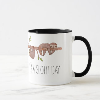 Lazy Baby Sloths on Treebranch Mug