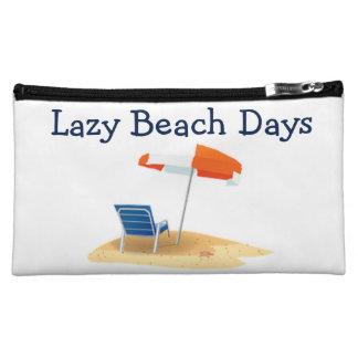 Lazy Beach Days Beach Scene Makeup Bag
