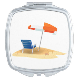Lazy Beach Days Beach Scene Vanity Mirror