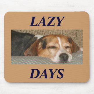 Lazy Beagle Mouse Mats