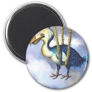 Lazy Bird Bird detail 2 Inch Round Magnet