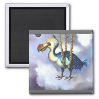 Lazy Bird Bird detail 2 Inch Square Magnet