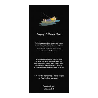Lazy boat Day fishing / angling Personalized Rack Card