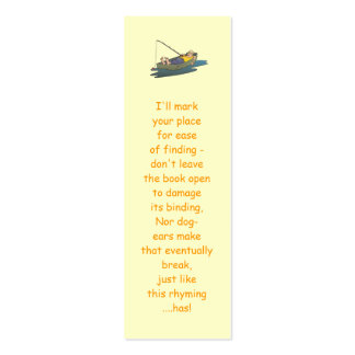 Lazy Boat Day fishing bookmarks Double-Sided Mini Business Cards (Pack Of 20)