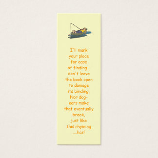 Lazy Boat Day fishing bookmarks Mini Business Card