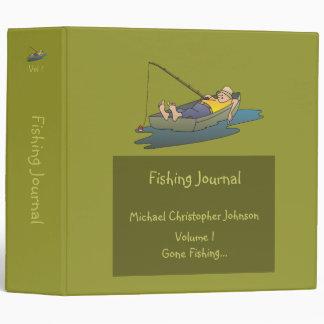 Lazy Boat Day Fishing Journal 3 Ring Binder