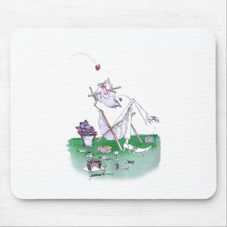 lazy bones - cricket , tony fernandes mouse pad