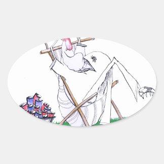 lazy bones - cricket , tony fernandes oval sticker