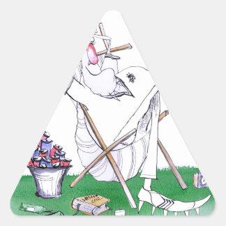 lazy bones - cricket , tony fernandes triangle sticker