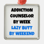 Lazy Butt Addiction Counselor Christmas Ornament