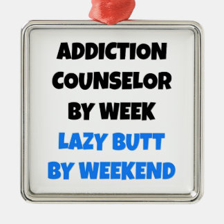 Lazy Butt Addiction Counselor Christmas Ornament