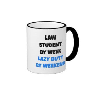 Lazy Butt Law Student Ringer Coffee Mug