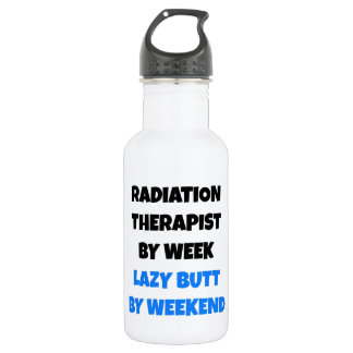 Lazy Butt Radiation Therapist Water Bottle
