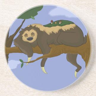 Lazy Cartoon Sloth in a Tree Coaster