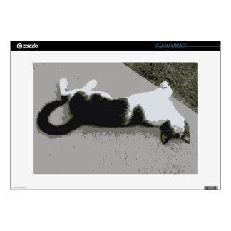 "Lazy Cat 15"" Laptop Skins"